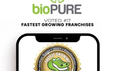 bioPURE Recognized as the 17th Fastest Growing Franchises in 2021